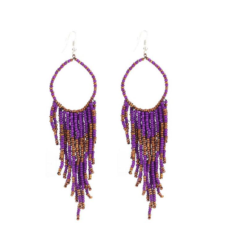 Diy Seed Bead Fringe Hoop Earrings Designs Chandelier On