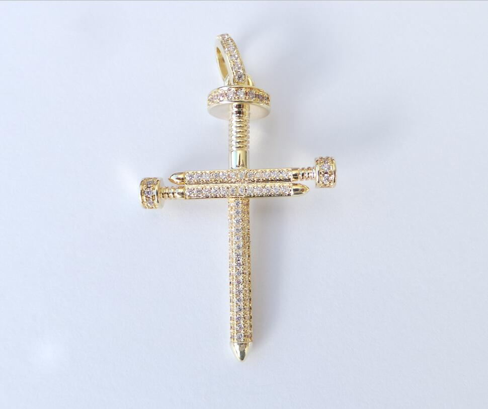 22k Gold Jewelry Design Mens Jesus Nail Cross Pendant Buy 22k Gold