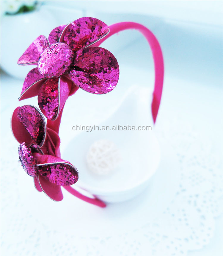 Chic Fashion Hair Accessories Flowers Thin Plastic Headband Alice Band
