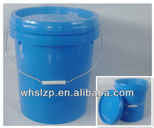 16L Blue Plastic Drums with Lids and Handles