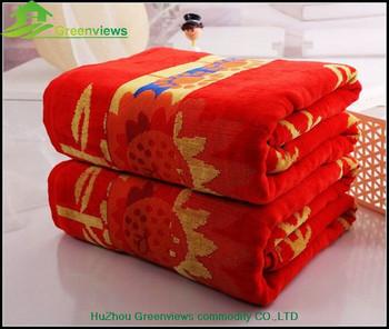 Soft Cotton Beach Towel Terry Custom Print Towels