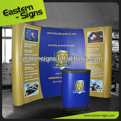 10ft PVC Magnetic Pop Up Display Vinyl Printing Backdrop