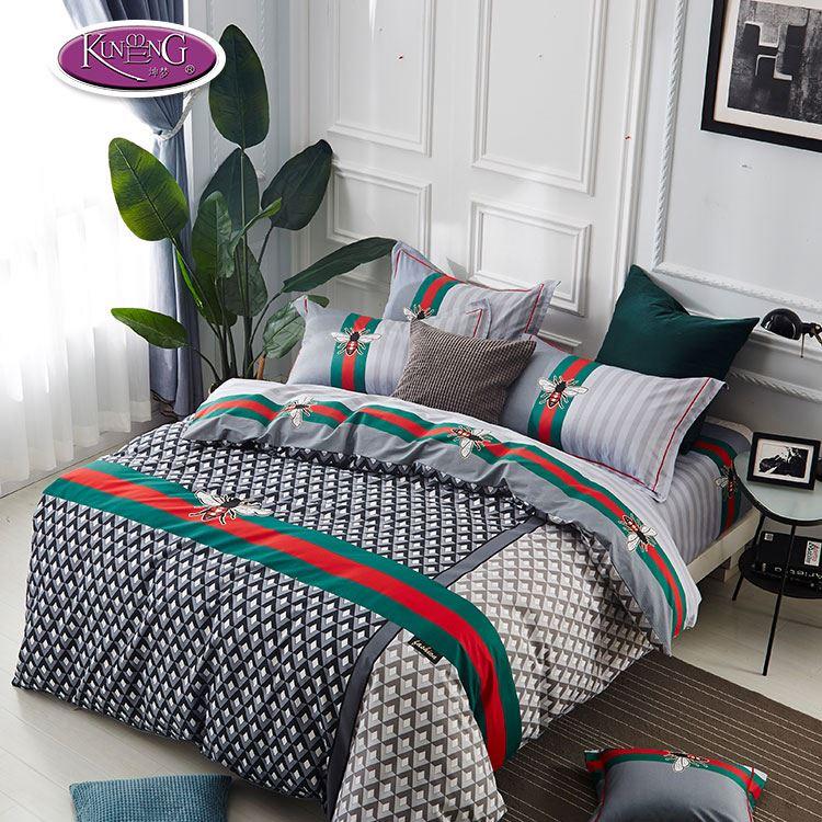 Keluarga Ukuran Elegan Rumah Tekstil Set Tempat Tidur Unicorn Seprai