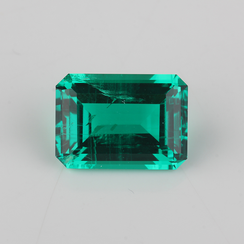 9*7mm octagon emerald cut emerald green excellent quality synthetic Emerald фото