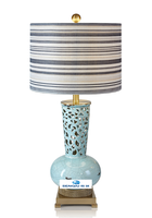 Blue ceramic nordic the typhoon lamp