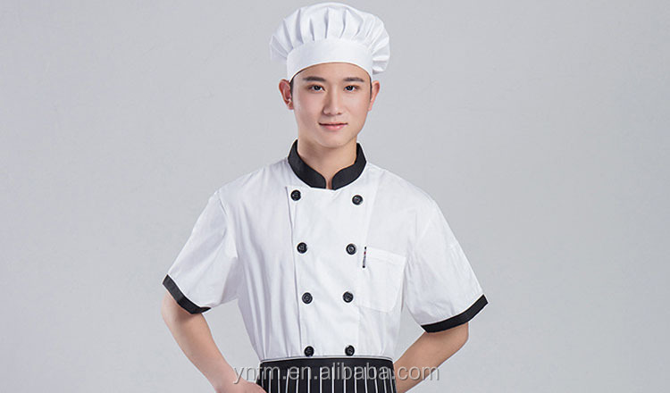 Wholesale Restaurant Use Chef Kitchen Uniform Custom Made Cheap Cooking Chef Uniform Anti - Pilling For Men And Women