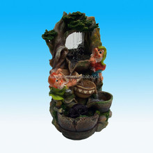 Custom Novelty Gnome Dwarf Fall Cascading Water Fountain