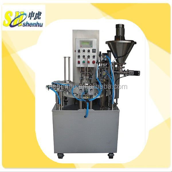 Double Filling Heads Automatic Cup Filler and Sealer Machine