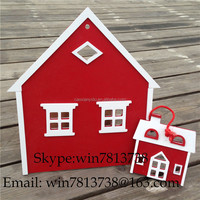Christmas Decoration Red Christmas Village House With Window Snow House With Hanging Rope Arcades Hotel Scene Arrangement