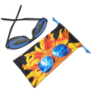 Custom Logo Printed Microfiber Sunglasses Glasses Eyeglasses Bag Pouch