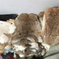 Wholesale Price Raw 100% Real Scrap White Rabbit Fur pelt