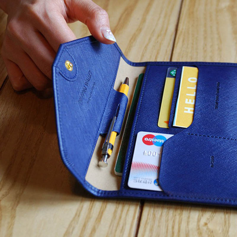 Travel Passport Cover Foldable Credit Card Holder Money Wallet ID Multifunction Documents Flight Bit License Purse Bag PC0045 (16)