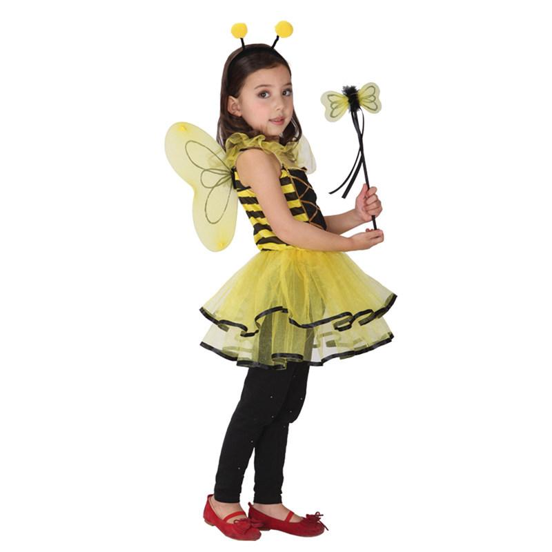 Ragazza cosplay ape gioco di ruolo in costume bambino costume animale per i bambini