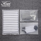 Waterproof packaging bag for tshirt clear frosted ziplock bag for travel