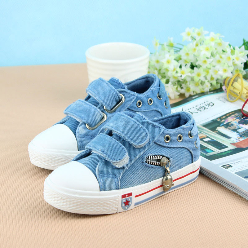 New Spring Summer Canvas Shoes Girls And Boys Sneakers Baby Jeans Denim Kids Shoes free shipping student casual shoe girls shoes