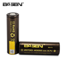 4000mah 21700 High Drain Rechargeable Battery Flat Top cell Basen 20700 21700 lithium ion Battery Manufacturers