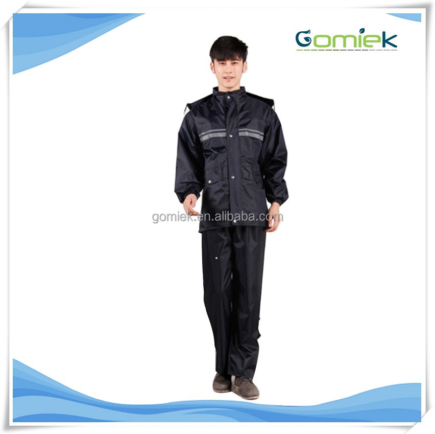 GMK-188 military water proof rain suit for men with double reflective stripe