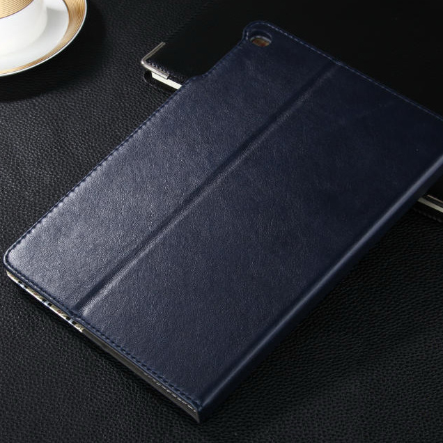 For iPad6 leather wallet with belt card slot PU leather case