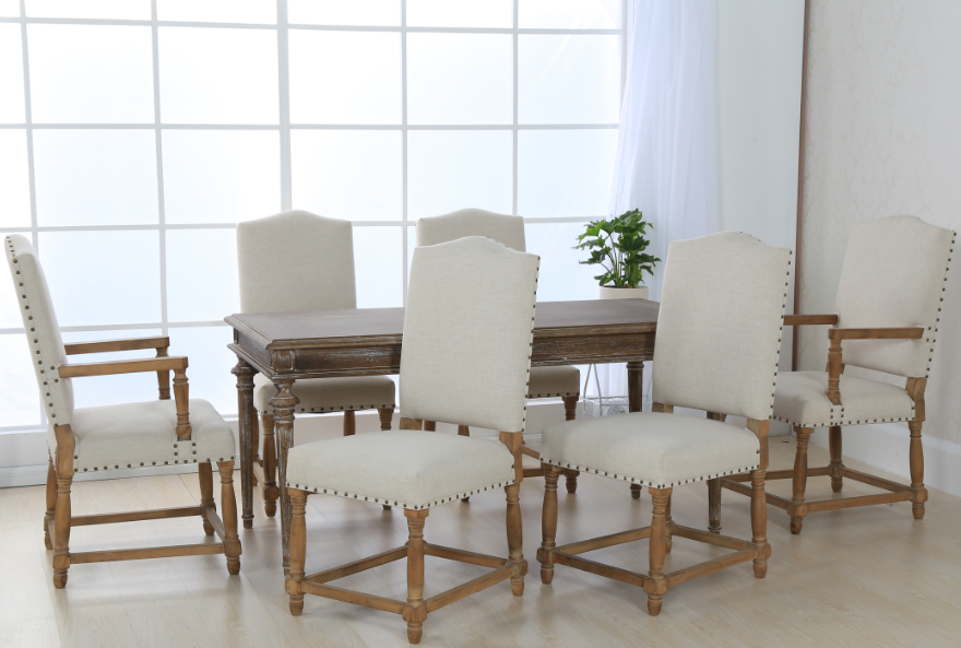 Simple Wood Contemporary Kitchen Dining Chairs With High