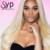 Body Wave Human Hair Platinum Blonde 613 Full Lace Wig With Baby Hair