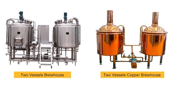 100L 200L 300L 500L 700L 1000L 2000L เหล็ก brewing micro craft beer brewery อุปกรณ์