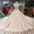 Jancember LS11284 luxury crystal wedding dress latest fashion  bridal gown lace long trail wedding dress ball gown