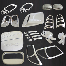 decorative 2005-2010 toyota hilux chrome kit accessories for toyota hilux vigo 2006 2007 2008 2009 car styling hilux plate parts
