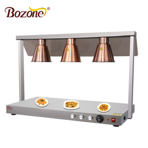 Hot Sale Commercial Hotel Widely Used Buffet Table 3 Bulbs Infrared Heating Restaurant Commercial Food Heat Lamps