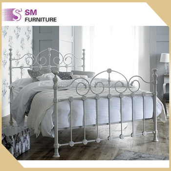 Victorian Style Double Cream Metal Bed Frame For Hot Sale - Buy High ...