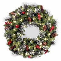 2018 Wholesale Christmas wreath clear Decorations Xmas Party Supplies