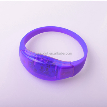 Hot Selling Sound Sensor LED Lighting Wristbands for Wedding Favor Party Items Event Concert Music Festival Giveaways