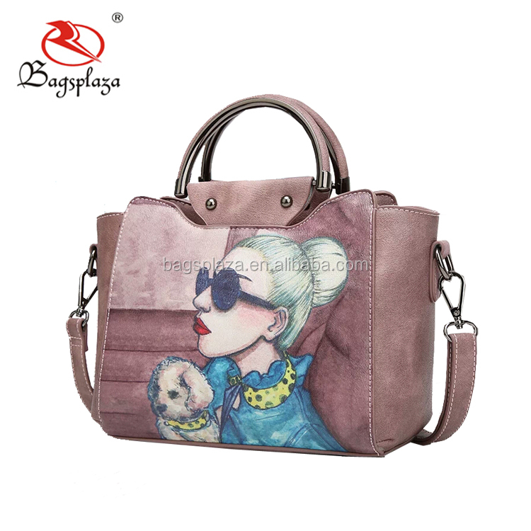 da1537d26ada4 Best Selling Indonesia Handbags Grey-white Flora Name Brand Bags ...