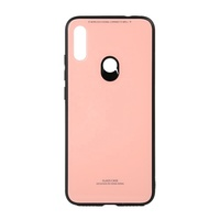 Clear Tempered Glass Back Cover Soft silicone Frame Phone Case for xiaomi redmi 6 pro