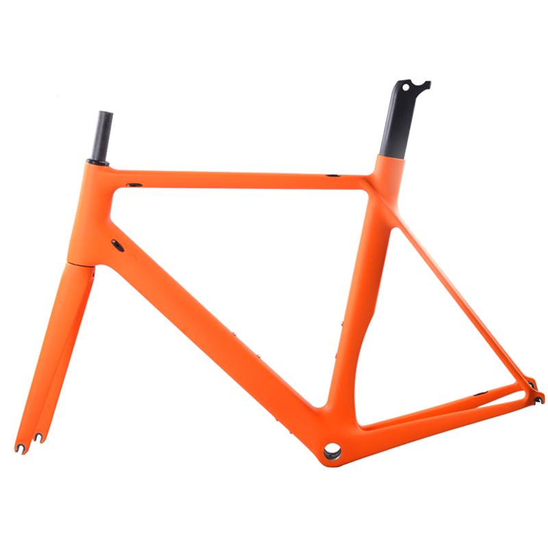 Cheap Carbon 700C road bicycle carbon frame BSA carbon frame V brake Di2 bike frame 49/51/54/56/58cm