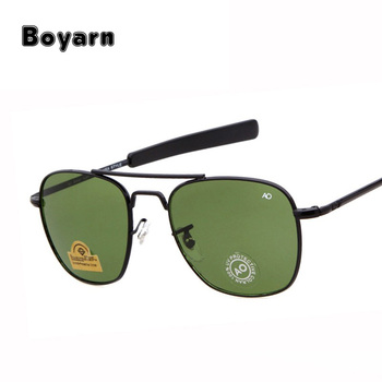 aa29a4f6484a 2018 Brand New Army MILITARY AO Sunglasses Men American Optical Lens 12K  Gold James Bond Sun