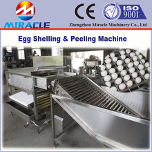 Factory use big capacity egg boiler and peeler eggshell handling equipment