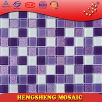 Anti-Slip Swimming Pool Bathroom Kitchen Crystal Glass Mosaic Tiles metallic finish porcelain floor and wall tile