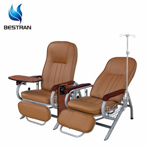 China BT-TN005 Cheap hospital medical adjustable patient transfusion chair, infusion chair with IV pole