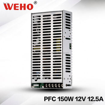 CE approved from China manufacturer 150W PFC single output ac dc Power Supply