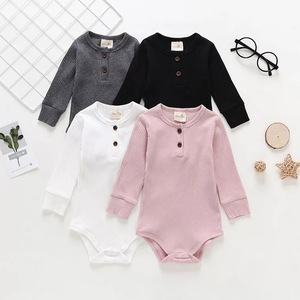 Spring and summer pure cotton baby long sleeve triangle bodysuit newborn toddlers climb clothes