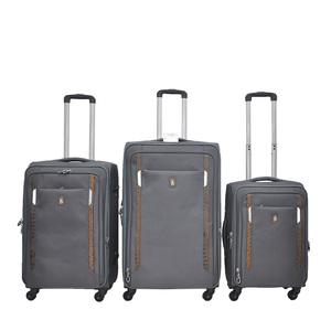Hot selling 3pcs set 20 24 28 inch trolley suitcase roller luggage bag 4 wheels soft nylon luggage