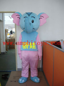 Pink red elephant professional cartoon character
