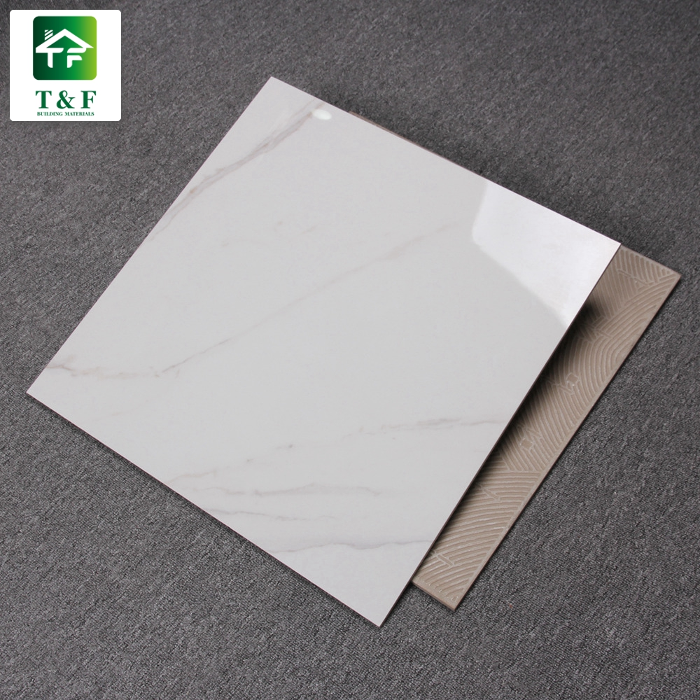 Ceramic Tile Low Price Marble White Glossy Glazed Kerala Vitrified Floor Tiles Design