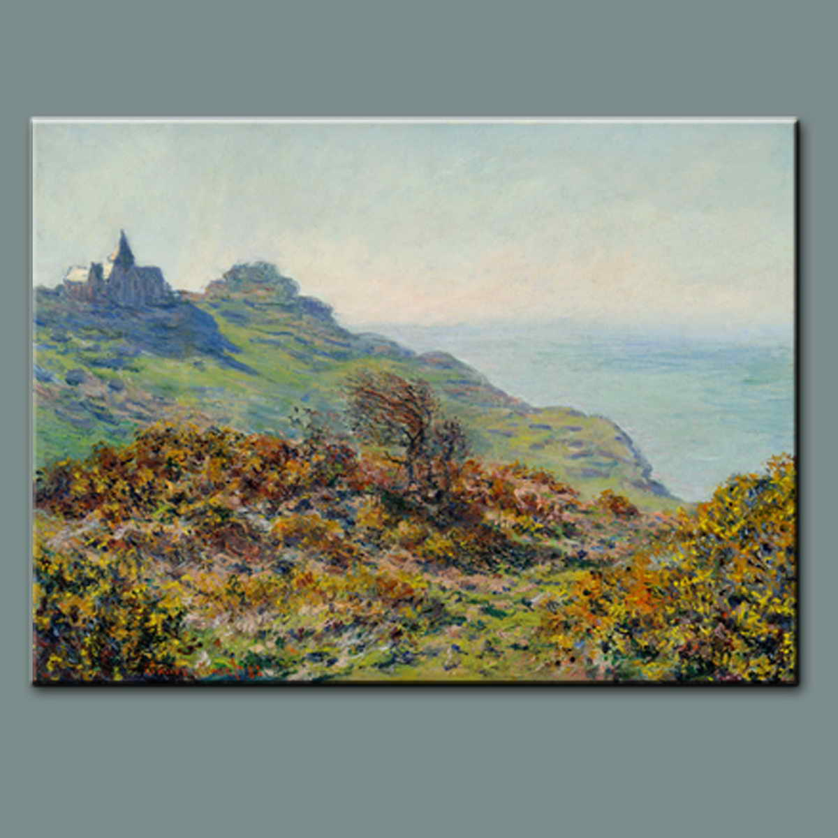 Handpainted reproduction Impressionist Canyon hill famous landscape art Oil Painting with frame