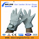 cow split leather kids gloves fingerless horse riding gloves