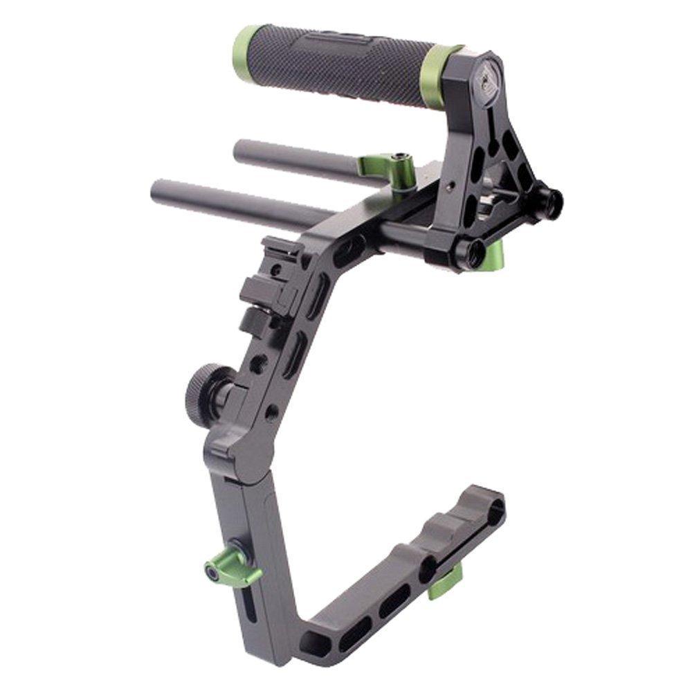 DSLR 15mm Rods Top Handle Grip+ C-shape Cage C Arm Support Rig 5D2 5D3 550D