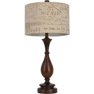 Cheap french country lamp shade find french country lamp shade get quotations table lamps set walnut turned resin table lamp with french script shade aloadofball Image collections