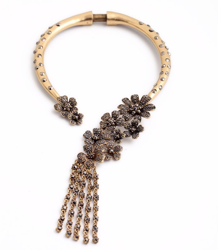 Trending Hot Products Top Class Jewelry Vintage Jewelled Flower ...