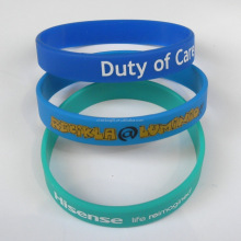 promotional gifts cheap price silicone rubber bracelet / printing your logo advertising silicone wristbands