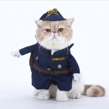 2019 hot sale funny dog cat police costume clothes pet fashion decoration Halloween Christmas Birthday pet dog cat polic costume